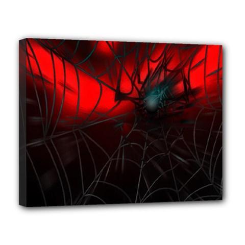Spider Webs Canvas 14  X 11