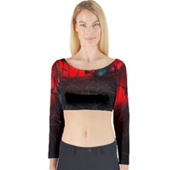 Spider Webs Long Sleeve Crop Top
