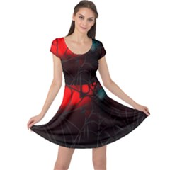 Spider Webs Cap Sleeve Dresses