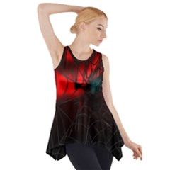 Spider Webs Side Drop Tank Tunic