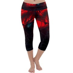 Spider Webs Capri Yoga Leggings