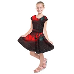 Spider Webs Kids  Short Sleeve Dress