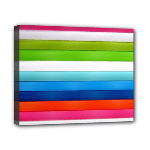 Colorful Plasticine Canvas 10  X 8