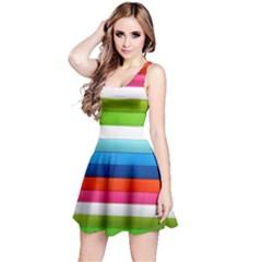 Colorful Plasticine Reversible Sleeveless Dress