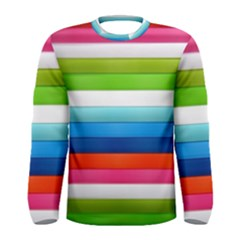 Colorful Plasticine Men s Long Sleeve Tee