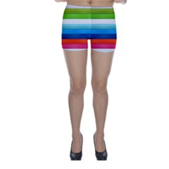 Colorful Plasticine Skinny Shorts