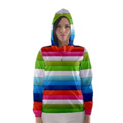 Colorful Plasticine Hooded Wind Breaker (Women)