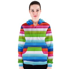 Colorful Plasticine Women s Zipper Hoodie