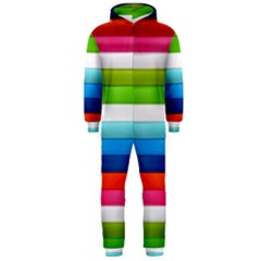 Colorful Plasticine Hooded Jumpsuit (Men)
