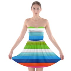 Colorful Plasticine Strapless Bra Top Dress