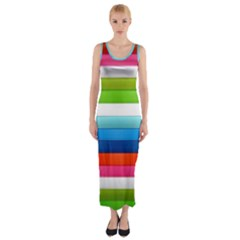 Colorful Plasticine Fitted Maxi Dress