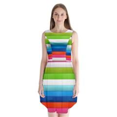 Colorful Plasticine Sleeveless Chiffon Dress