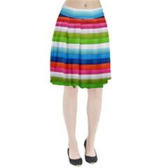 Colorful Plasticine Pleated Skirt