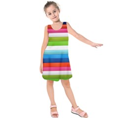 Colorful Plasticine Kids  Sleeveless Dress