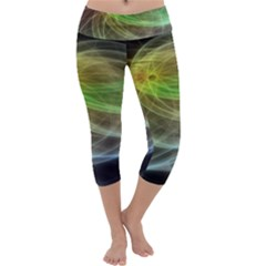 Yellow Smoke Capri Yoga Leggings