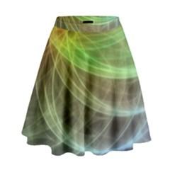 Yellow Smoke High Waist Skirt