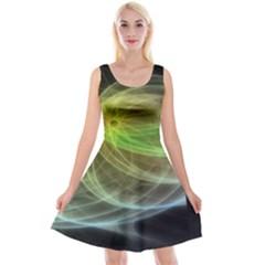 Yellow Smoke Reversible Velvet Sleeveless Dress