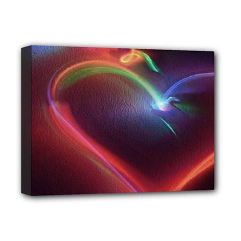 Neon Heart Deluxe Canvas 16  X 12