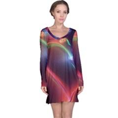 Neon Heart Long Sleeve Nightdress