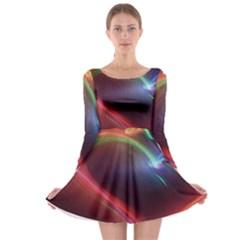 Neon Heart Long Sleeve Skater Dress