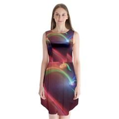 Neon Heart Sleeveless Chiffon Dress