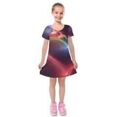 Neon Heart Kids  Short Sleeve Velvet Dress