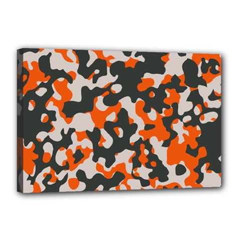 Camouflage Texture Patterns Canvas 18  X 12