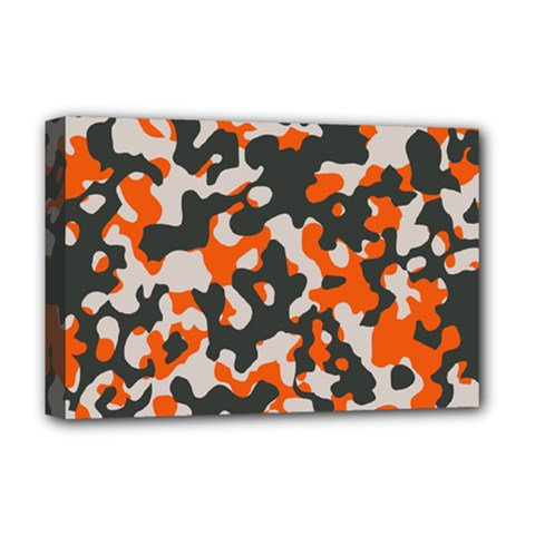 Camouflage Texture Patterns Deluxe Canvas 18  x 12