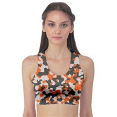 Camouflage Texture Patterns Sports Bra