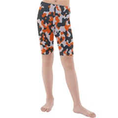 Camouflage Texture Patterns Kids  Mid Length Swim Shorts