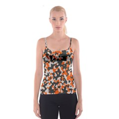 Camouflage Texture Patterns Spaghetti Strap Top