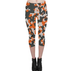 Camouflage Texture Patterns Capri Leggings