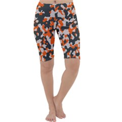 Camouflage Texture Patterns Cropped Leggings