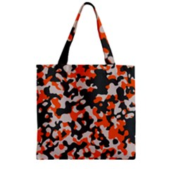 Camouflage Texture Patterns Zipper Grocery Tote Bag