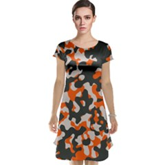 Camouflage Texture Patterns Cap Sleeve Nightdress