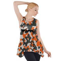 Camouflage Texture Patterns Side Drop Tank Tunic