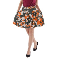 Camouflage Texture Patterns A Line Pocket Skirt