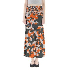 Camouflage Texture Patterns Full Length Maxi Skirt