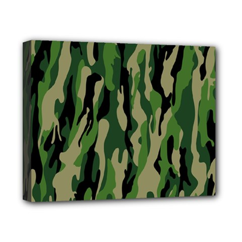 Green Military Vector Pattern Texture Canvas 10  x 8