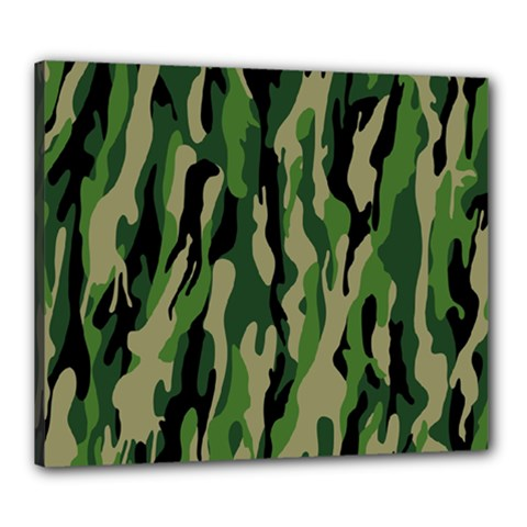 Green Military Vector Pattern Texture Canvas 24  X 20