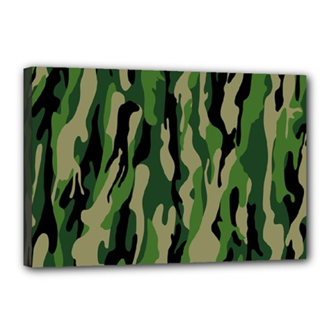 Green Military Vector Pattern Texture Canvas 18  X 12