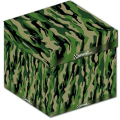 Green Military Vector Pattern Texture Storage Stool 12