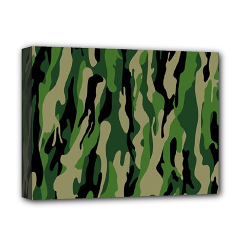 Green Military Vector Pattern Texture Deluxe Canvas 16  X 12