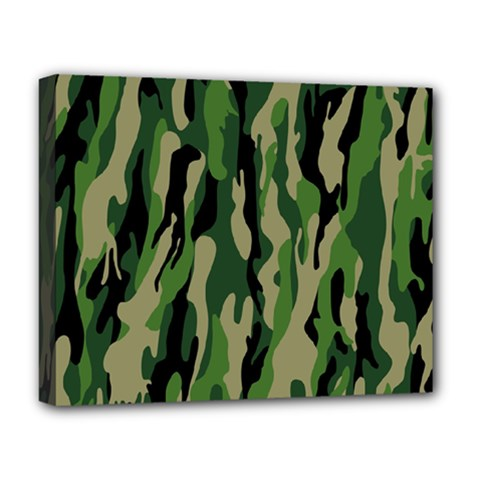 Green Military Vector Pattern Texture Deluxe Canvas 20  x 16