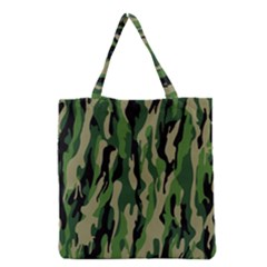 Green Military Vector Pattern Texture Grocery Tote Bag
