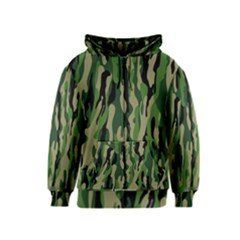 Green Military Vector Pattern Texture Kids  Zipper Hoodie