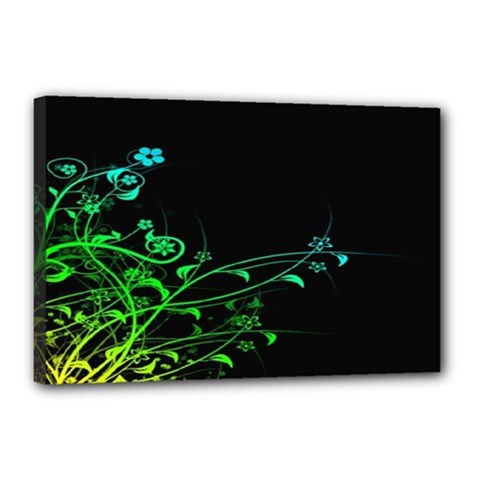 Abstract Colorful Plants Canvas 18  X 12