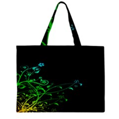 Abstract Colorful Plants Zipper Mini Tote Bag