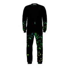 Abstract Colorful Plants Onepiece Jumpsuit (kids)