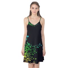 Abstract Colorful Plants Camis Nightgown